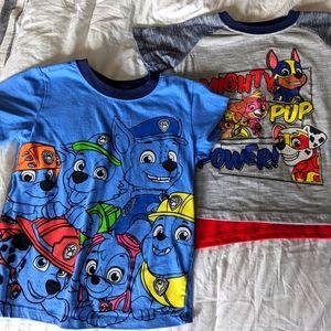 Two Paw Patrol T-Shirts Size 5T